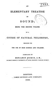 Cover of: An elementary treatise on sound