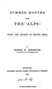 Cover of: Summer months among the Alps