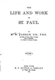 The life and work of St. Paul, Volume 1 by Frederic William Farrar