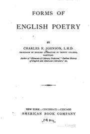 Cover of: Forms of English poetry | Charles Frederick Johnson