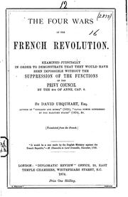 Cover of: The four wars of the French revolution