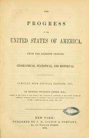 Cover of: progress of the United States of America | Richard Swainson Fisher