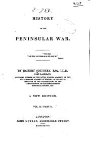 Cover of: History of the Peninsular War