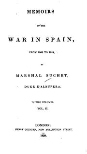 Cover of: Memoirs of the war in Spain, from 1808 to 1814