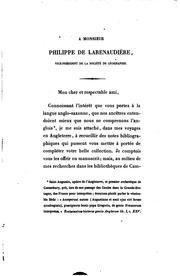 Cover of: Bibliothèque anglo-saxonne