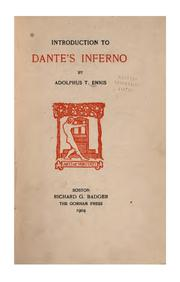 Cover of: Introduction to Dante
