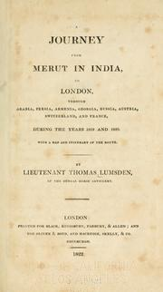 Cover of: journey from Merut in India, to London | Lumsden Mr.
