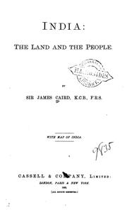 Cover of: India: the land and the people