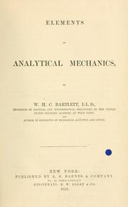 Cover of: Elements of analytical mechanics | W. H. C. Bartlett