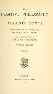 Cours de philosophie positive by Auguste Comte