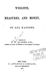 Cover of: Weights, measures, and money, of all nations