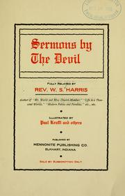 Cover of: Sermons by the devil | Harris, W. S.