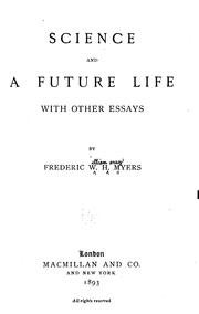 Cover of: Science and a future life | Frederic William Henry Myers