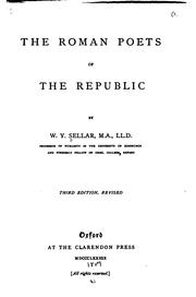 The Roman poets of the Republic by W. Y. Sellar