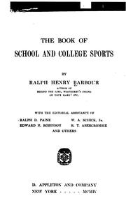 Cover of: The book of school and college sports