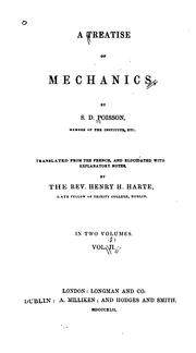 Cover of: A treatise of mechanics