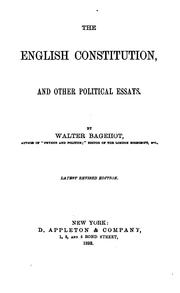 Cover of: The English constitution | Walter Bagehot