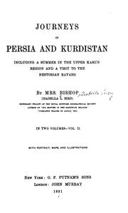 Cover of: Journeys in Persia and Kurdistan | Isabella L. Bird