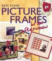 Cover of: Picture Frames in an afternoon