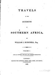 Cover of: Travels in the interior of southern Africa