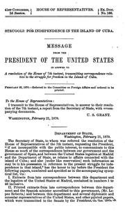 Cover of: Correspondence between the Department of state and the United States minister at Madrid, and the consular representatives of the United States in the island of Cuba | United States. Department of State.