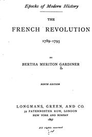 Cover of: The French revolution 1789-1795