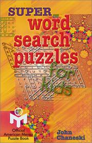 Cover of: Super Word Search Puzzles for Kids