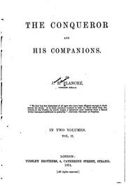 Cover of: The Conqueror and his companions