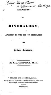 Cover of: Elements of mineralogy | J. L. Comstock