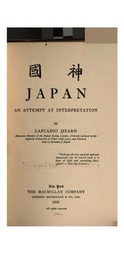 Cover of: Japan | Lafcadio Hearn