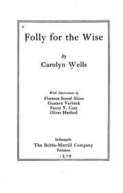 Cover of: Folly for the wise