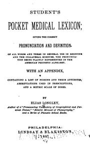 Cover of: Student's pocket medical lexicon
