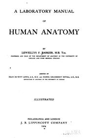 Cover of: A laboratory manual of human anatomy