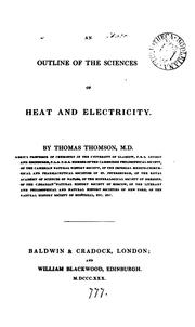 Cover of: An outline of the sciences of heat and electricity