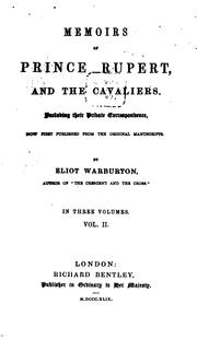 Cover of: Memoirs of Prince Rupert, and the cavaliers