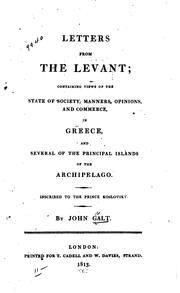 Cover of: Letters from the Levant