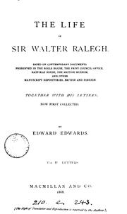 Cover of: The life of Sir Walter Ralegh