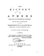 Cover of: history of Athens | Young, William Sir, 2d bart.