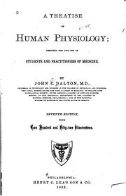 Cover of: A treatise on human physiology