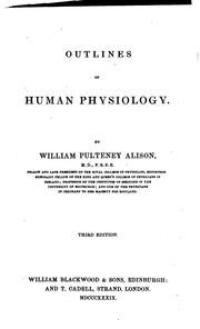 Cover of: Outlines of human physiology