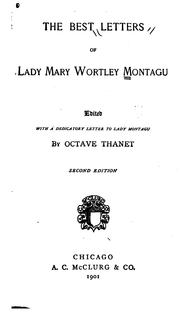 Cover of: The best letters of Lady Mary Wortley Montagu