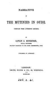 Cover of: Narrative of the mutinies in Oude