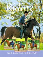 Cover of: Riding for beginners | Sibylle Luise Binder