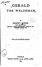 Gerald the Welshman by Owen, Henry