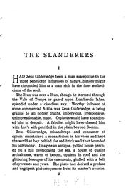 Cover of: The slanderers