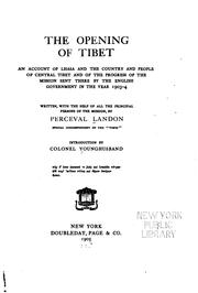 Cover of: The opening of Tibet | Perceval Landon