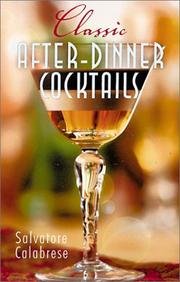 Cover of: Classic After-Dinner Cocktails