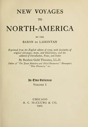 Cover of: New voyages to North-America | Louis Armand de Lom d