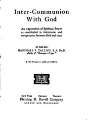 Cover of: Inter-communion with God | Marshall P. Talling