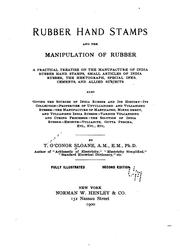 Cover of: Rubber hand stamps and the manipulation of rubber